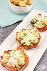 Caesar Salad Bacon Cups