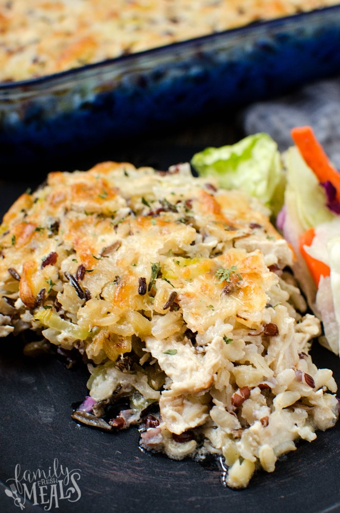 Chicken Wild Rice Casserole Family Fresh Meals