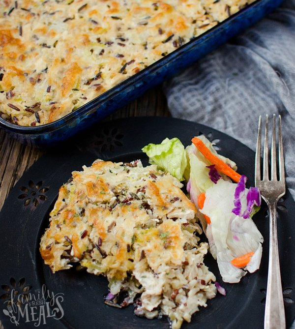 Chicken Wild Rice Casserole - Yummy family recipes