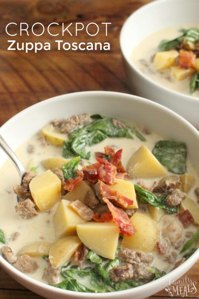 Crockpot Zuppa Toscana Soup - FamilyFreshMeals.com -