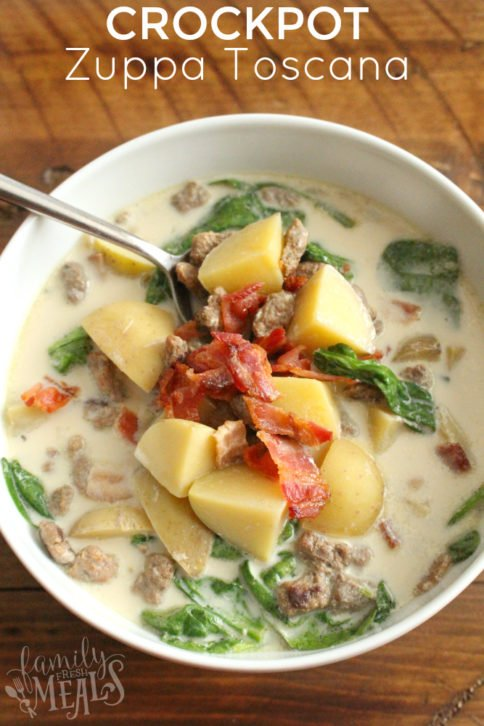 Crockpot Zuppa Toscana Soup - FamilyFreshMeals.com