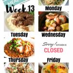 Easy Weekly Meal Plan Week 13