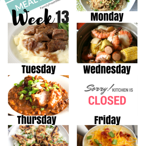 Easy Weekly Meal Plan Week 13