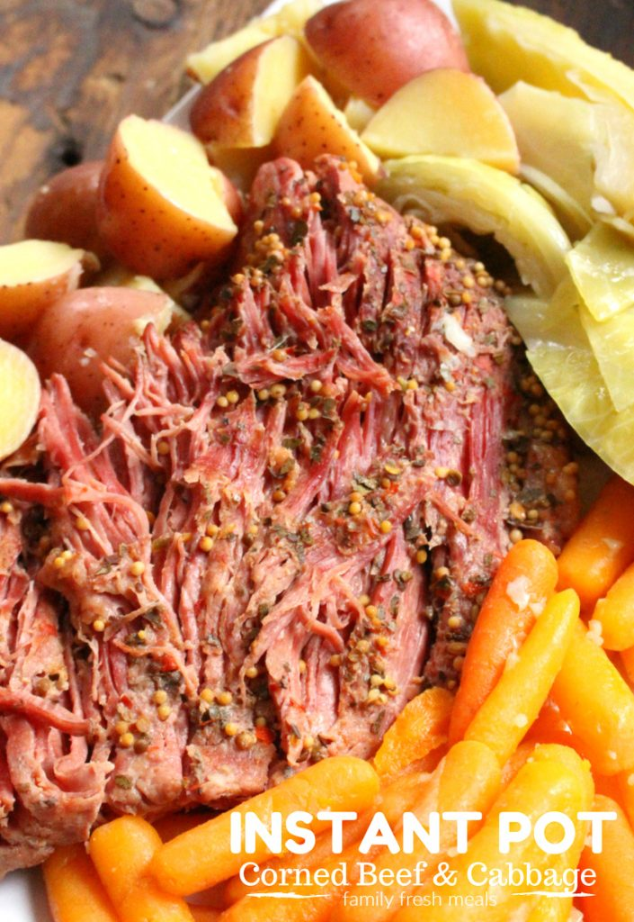 Instant Pot Corned Beef and Cabbage - FamilyFreshMeals.com -