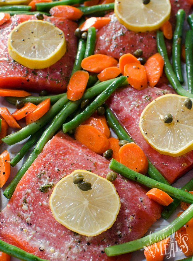 Salmon Sheet Pan Dinner - Fresh salmon sheet pan recipe