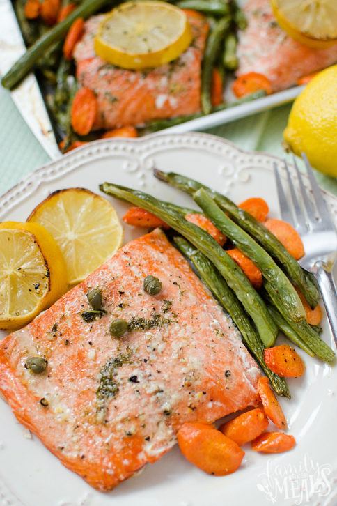 Salmon Sheet Pan Dinner - FamilyFreshMeals.com - Yummy Family Fresh Meals