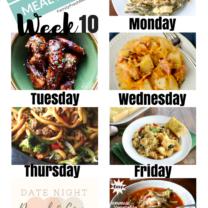 Easy Weekly Meal Plan Week 10