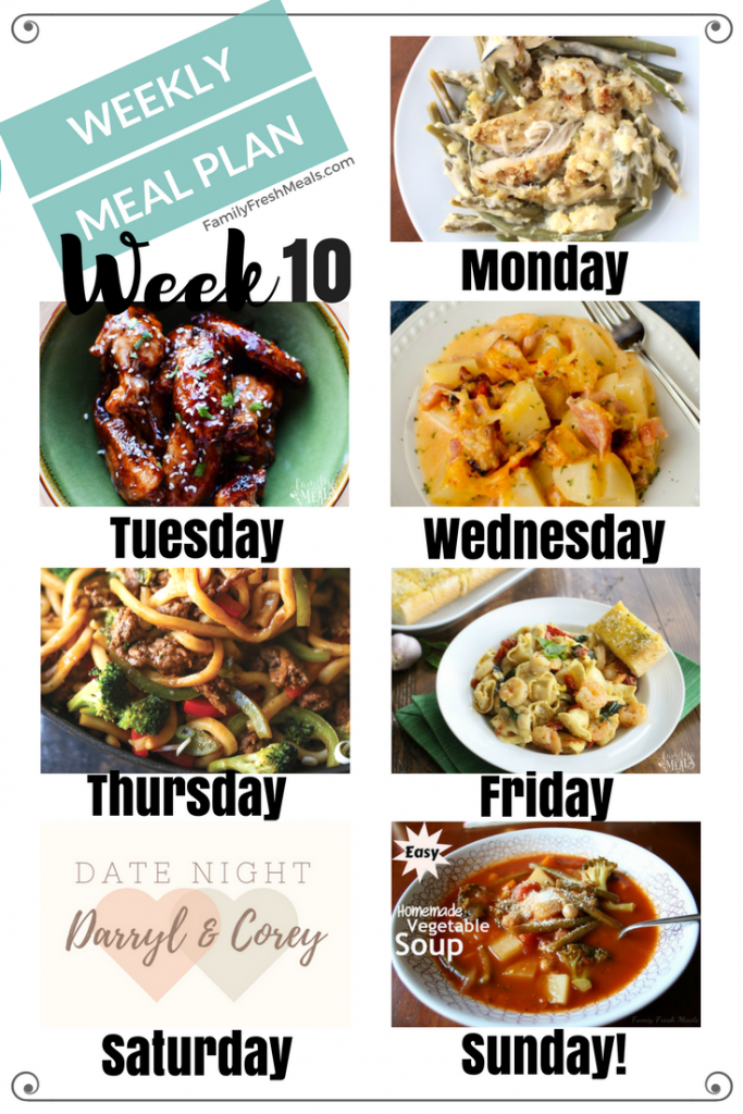 Easy Weekly Meal Plan Week 10