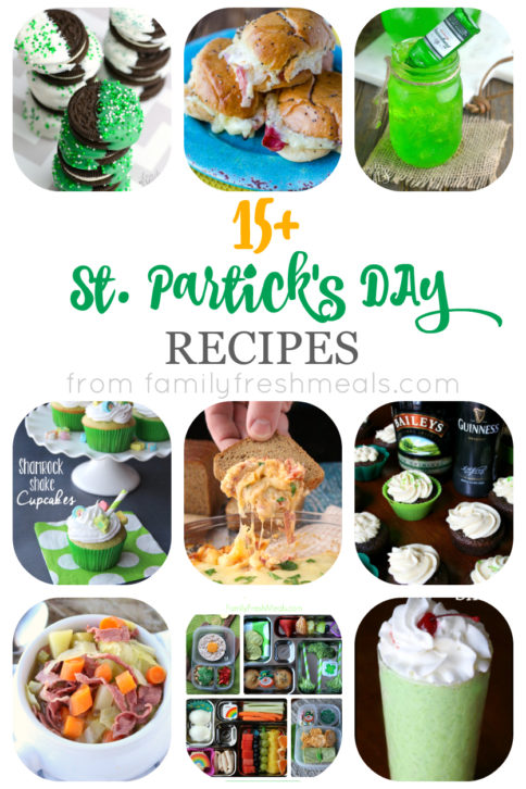 Over 15 St Patricks Day Recipe - FamilyFreshMeals.com