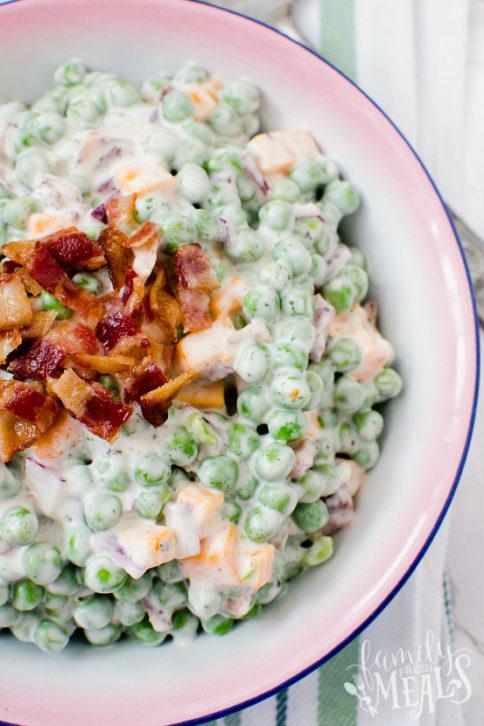 Creamy Bacon Pea Salad Recipe - Family Fresh Meals