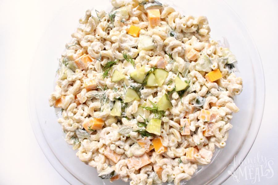 Dill Pickle Pasta Salad - FamilyFreshMeals.com