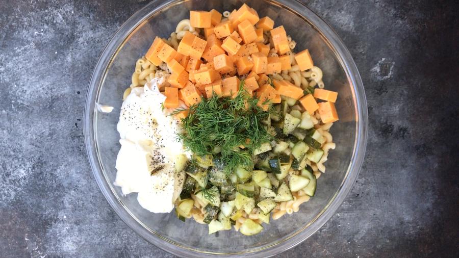 Dill Pickle Pasta Salad - Step 3