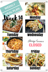Easy Weekly Meal Plan Week 14