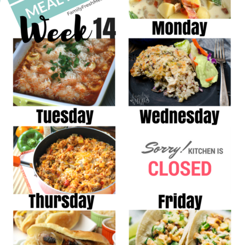 Easy Weekly Meal Plan 14