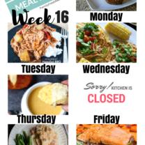 Easy Weekly Meal Plan Week 16