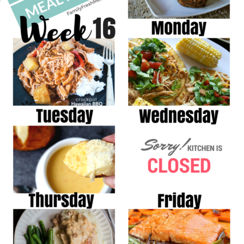 Easy Weekly Meal Plan week 16