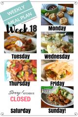 Easy Weekly Meal Plan Week 18