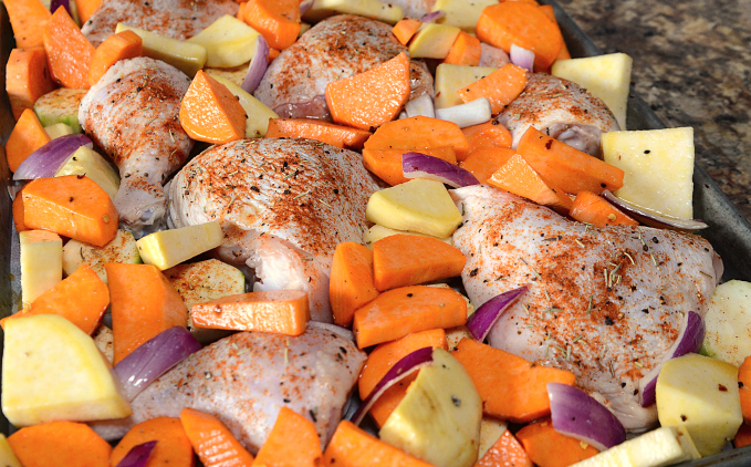 Roasted Chicken Sheet Pan Dinner - Step 4