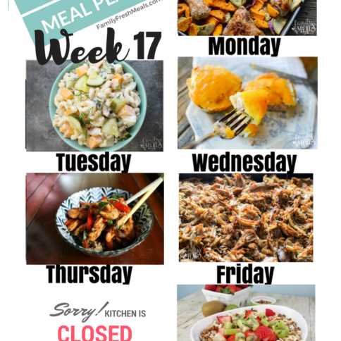 Easy Weekly Meal Plan week 17