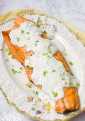 Easy Baked Salmon with Creamy Lemon Yogurt Sauce