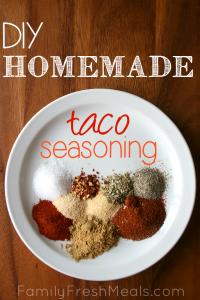 DIY Homemade Taco Seasoning - 20 Deliciously Different Tacos
