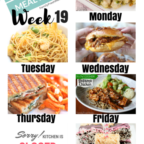 Easy Weekly Meal Plan Week 19