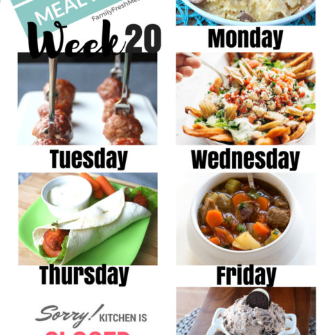Easy Weekly Meal Plan Week 20 - Family Fresh Meals