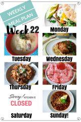 Easy Weekly Meal Plan Week 22