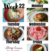 Easy Weekly Meal Plan Week 22