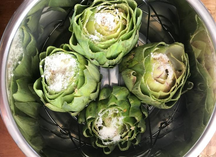 Instant Pot Parmesan Garlic Artichokes - Artichokes in Instant Pot