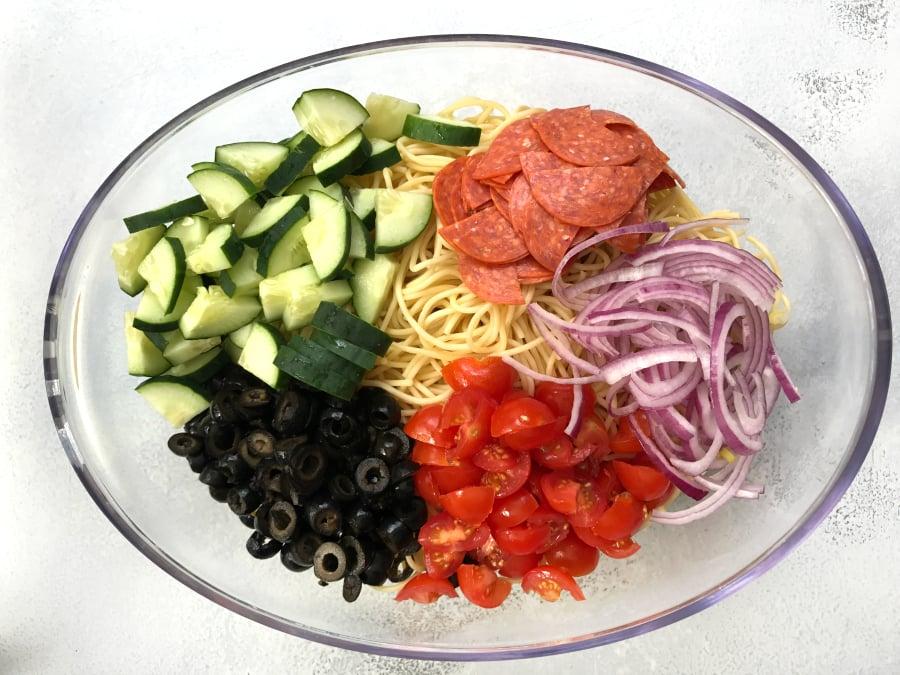 Italian Spaghetti Pasta Salad - Step 1