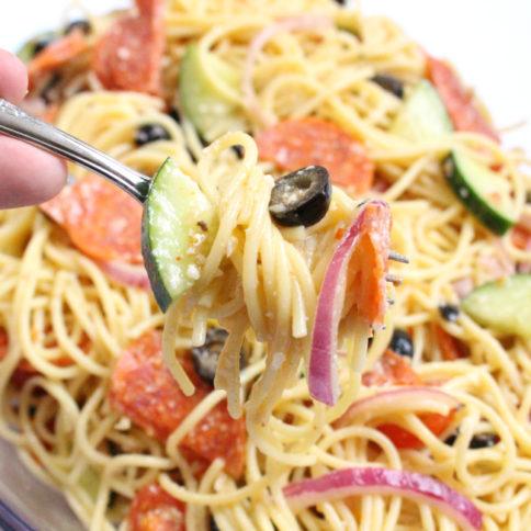 Italian Spaghetti Pasta Salad - Yummy recipe