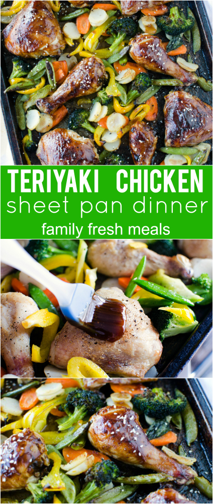 Teriyaki Chicken Sheet Pan Dinner - Family Fresh Meals