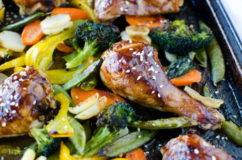 Teriyaki Chicken Sheet Pan Dinner