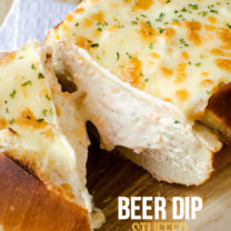 Beer Dip Stuffed Bread