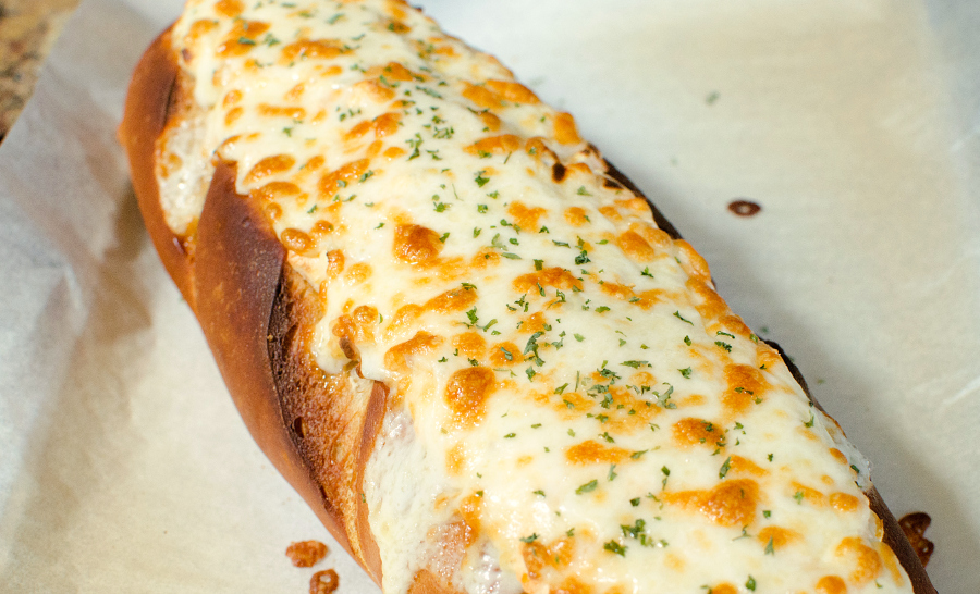 Beer Dip Stuffed Bread - Hot cheesy bread appetizer