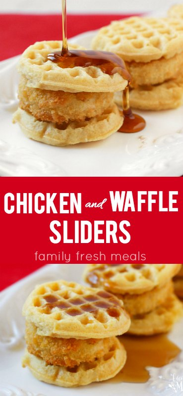 Chicken and Waffle Sliders - Family Fresh Meals -