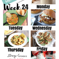 Easy Weekly Meal Plan Week 24