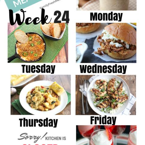 Easy Weekly Meal Plan Week 24