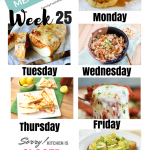 Easy Weekly Meal Plan Week 25