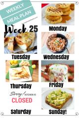 Easy Weekly Meal Plan Week 25