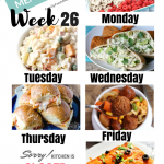 Easy Weekly Meal Plan Week 26