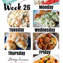 Easy Weekly Meal Plan Week 26