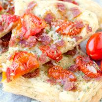 Italian Salami Tomato Tart