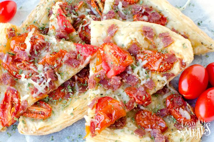 Italian Salami Tomato Tart - Step 4