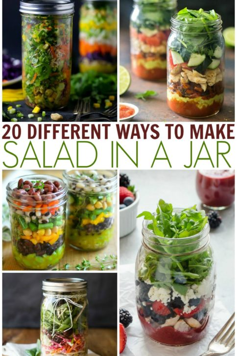 20 Salad In A Jar Ideas