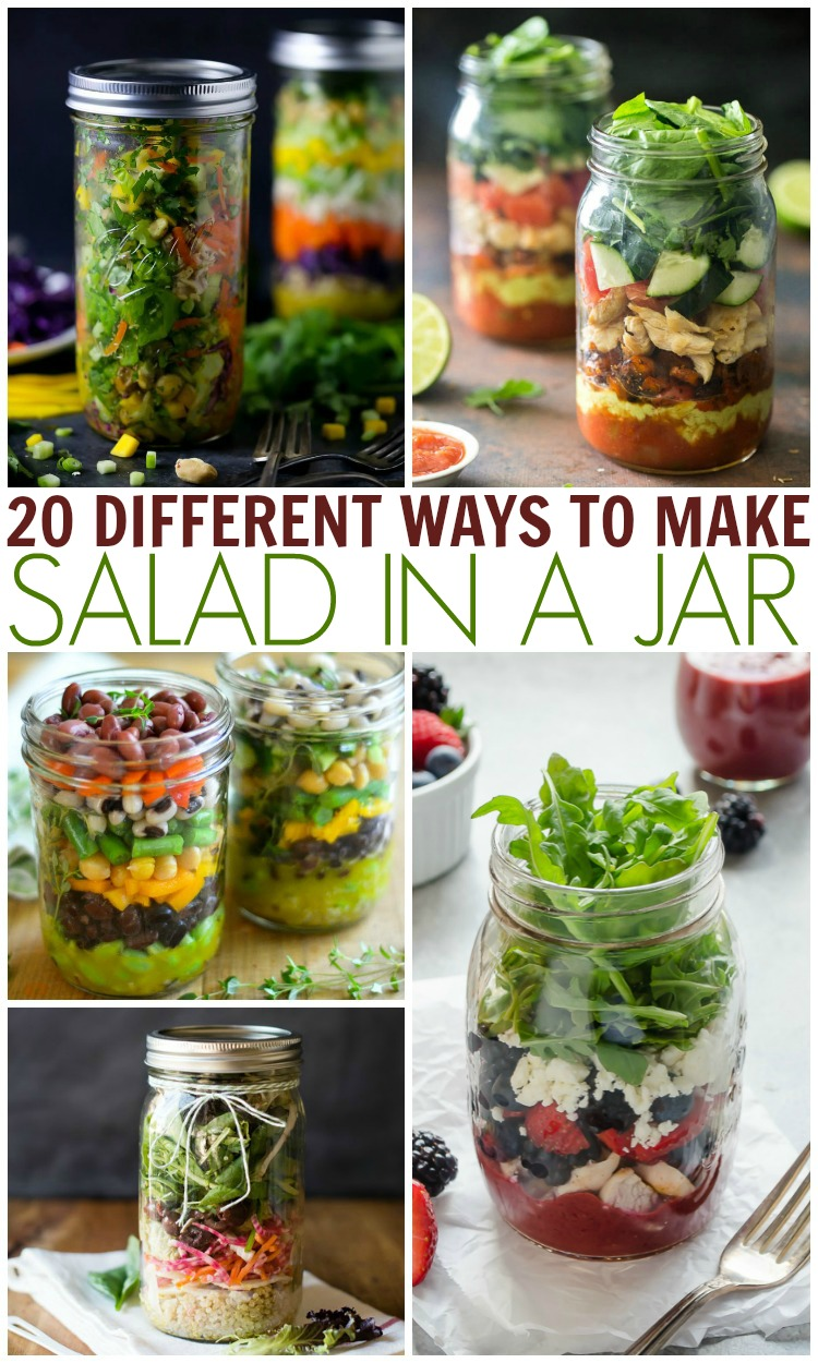 how to make salads in jars
