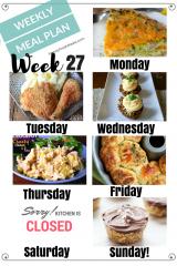 Easy Weekly Meal Plan Week 27