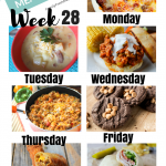 Easy Weekly Meal Plan Week 28
