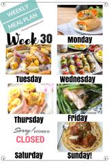 Easy Weekly Meal Plan Week 30